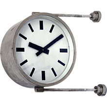 Railway Station Clock, double sided, 1970s