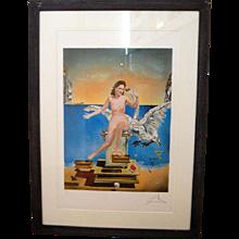 Salvador Dali. 'Leda and the Swan', 1949. lithograph