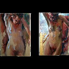 Sam Drukker, 1957 'Standing Naked' #85 & #86.
