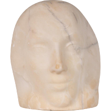 Unique Marble Head Sculpture by John Raedecker, circa 1950