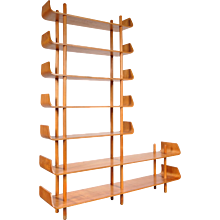 Tall Bookcase by Willem Lutjens for De Boer Gouda, 1953