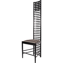 XL Edition Hill House Ladderback Chair by Charles Rennie Mackintosh, circa 1980