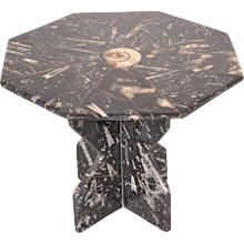 Stone Fossile Side Table, Italy, circa 1970