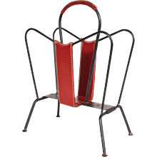 Magazine Rack by Jacques Adnet, France, circa 1950