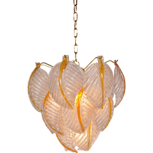 Murano Glass Ceiling Lamp by Mazzega, Italy, circa 1960