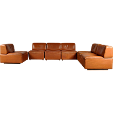 De Sede Leather Sectional Sofa, 1960's