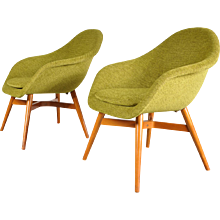 Set of Two Easy Chairs by Miroslav Navratil, circa 1960