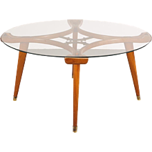 Round Coffee Table by Giordano Chiesa, circa 1950
