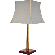 Delvaux Leather Table Lamp
