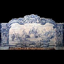 18th century Portuguese azulejos mural