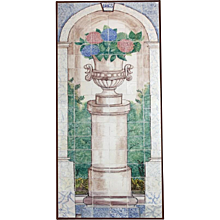 19th century polychrome Portuguese Albarrada