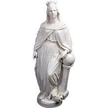 White Glazed Faience Statues