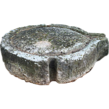 19th Century olive oil mill stone