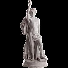 "19th century glazed faience statue ""Progresso"""
