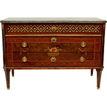 A Swedish Gustavian Commode by Johan Petter Stenström With Original Marble Top
