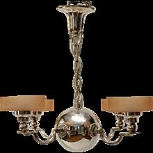 A Art Deco Ceiling Lamp, design Elis Bergh, by CG Hallberg, Stockholm, circa 1925
