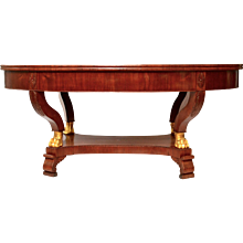 A Swedish Empire Mahogany Library Table