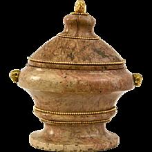 Italian Porta Santa Marble Vase With, 18th Century