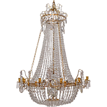 An Important Swedish Gustavian Chandelier Made in Stockholm. Circa 1780-85.