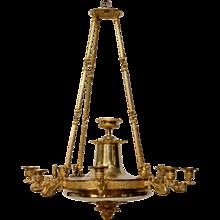 A Swedish Empire Gilt Bronze Chandelier, ca.1825