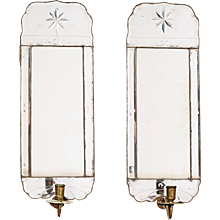 A Pair of Swedish Late Baroque Mirror Girandoles, 18th century