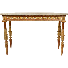 An Important Gustavian Carved Giltwood Console Table With A Marble Top By Jean Baptiste Masreliez. (1753-1801)