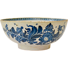 A Blue and White 18th Century Faience Bowl