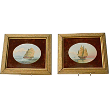 A Pair of 19th Century Chinese Marine Paintings.