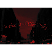 "NYC "" Red Passion"" Welcome To Little Italy, 2017 (Masterpiece)"