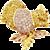 Natural Pink and Yellow Diamond Gold Squirrel Pin Brooch