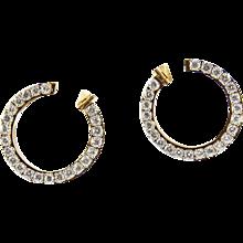 Circle of Diamonds Hoop Gold Earrings