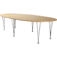 Large dining/conferance table designed by Bruno Mathsson for Mathsson International,	 Sweden. 1960's