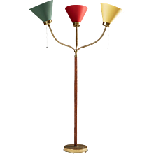 Floor lamp, model G2431, designed by Josef Frank for Svenskt Tenn, Sweden. 1950's