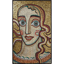 "Mosaic wall panel ""Queen of Mälaren"" by Einar Forseth, Sweden. 1923."