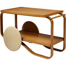 Tea Trolley Model 901 Designed by Alvar Aalto for Artek, Finland, 1936