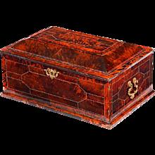 Franco-flemish ormolu-mounted tortoiseshell casket