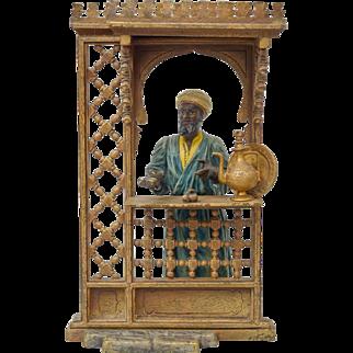 Bergman Vienna bronze Arab seller, ca 1880.