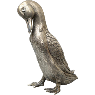 27 cm high, Silver Duck by A. Luca