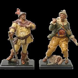 Pair of whimsical figures by Bergman, ca 1880.
