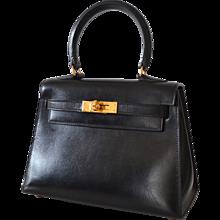 Hermès Kelly 20 Sellier Black Box