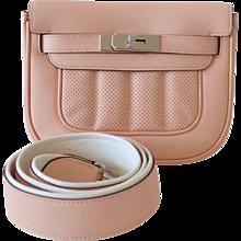 Hermes handbag Mini Berline Swift Rose Sakura