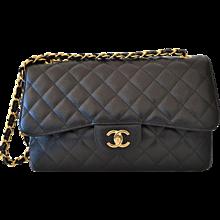 Chanel Timeless Jumbo Black Caviar