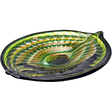 1950s Art Glass Shallow Bowl by Andries Copier, Leerdam Unicum, 1953