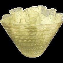A.D. Copier and Lino Tagliapietra Unique Fourfold Murano Glass Object 1989