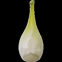 Floris Meydam, Yellow One-Off Glass Vase, Leerdam, 1953