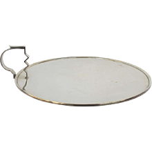 Original Modernistic Silver Serving Platter, 1938