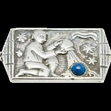 Art Deco Silver Brooch by Fons Reggers