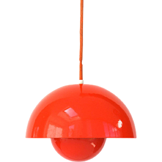 Red Flowerpot lamp by Verner Panton, 1969