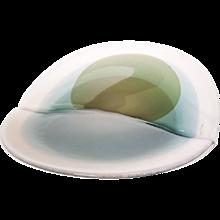 "Willem Heesen Unique Glass Object, ""Plomp Leave"", 1986"