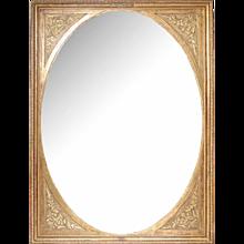 Huge oval Mirror in rectangular frame
